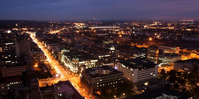 Belgrad på natten