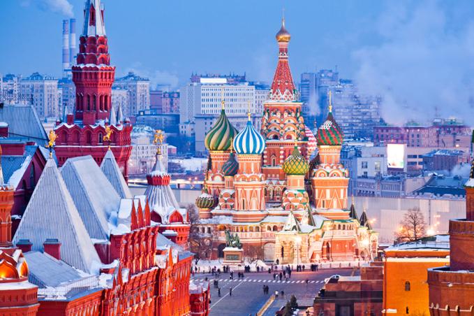 Moskva på vintern