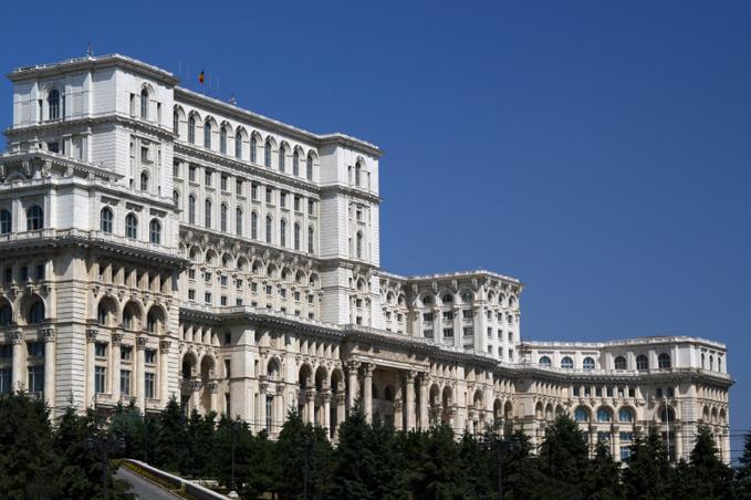 Parlamentsbyggnaden i Bukarest